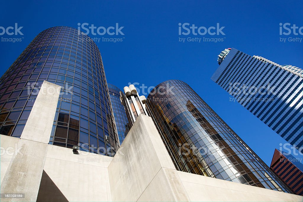 Hotel Bonaventure Los Angeles from Below stock photo