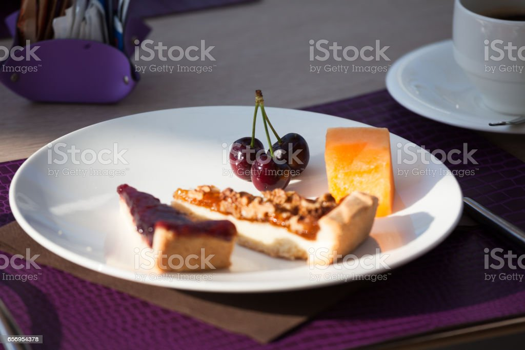 Hotel Breakfast stock photo