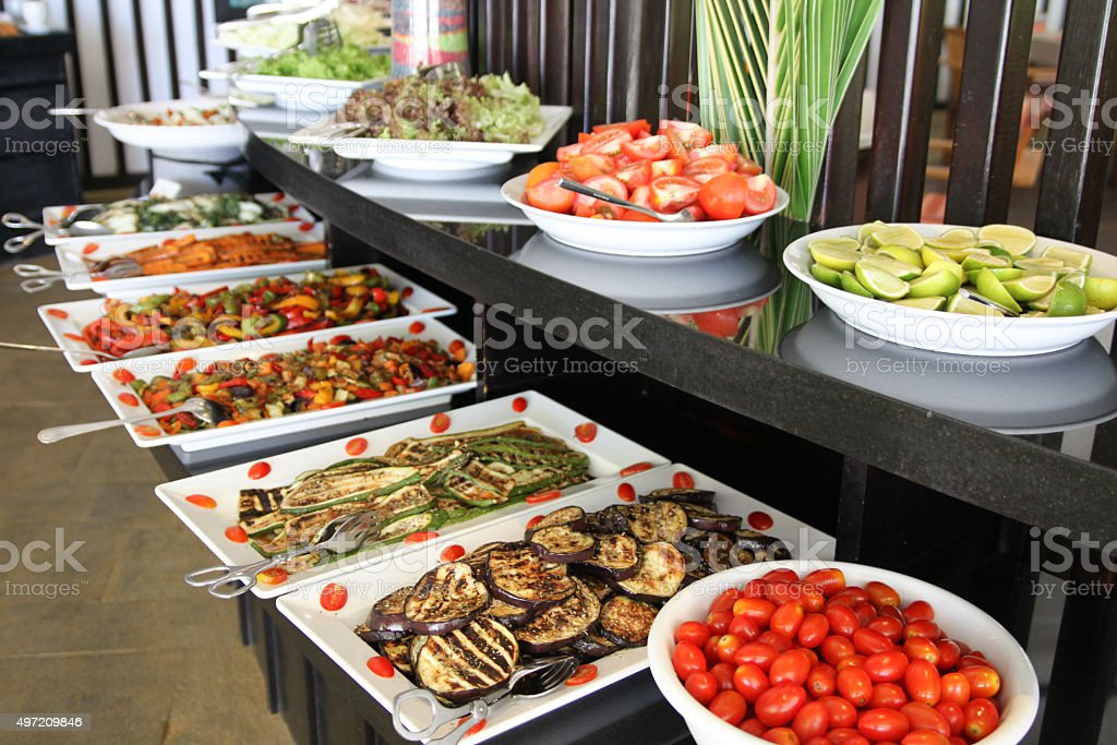 Hotel Buffet Lunch stock photo