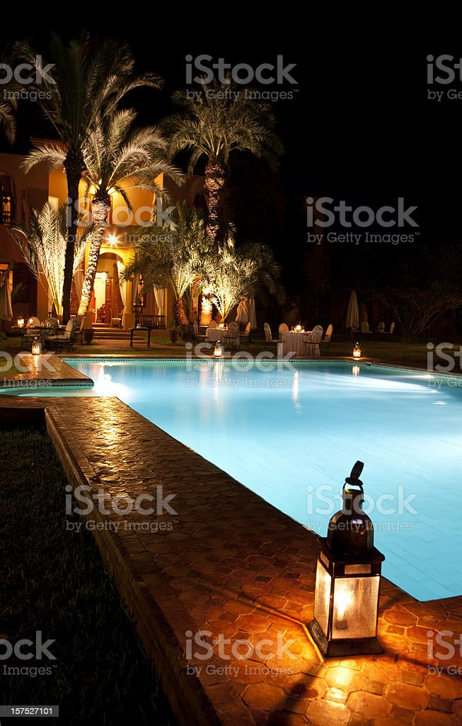 Hotel By Night royalty-free stock photo