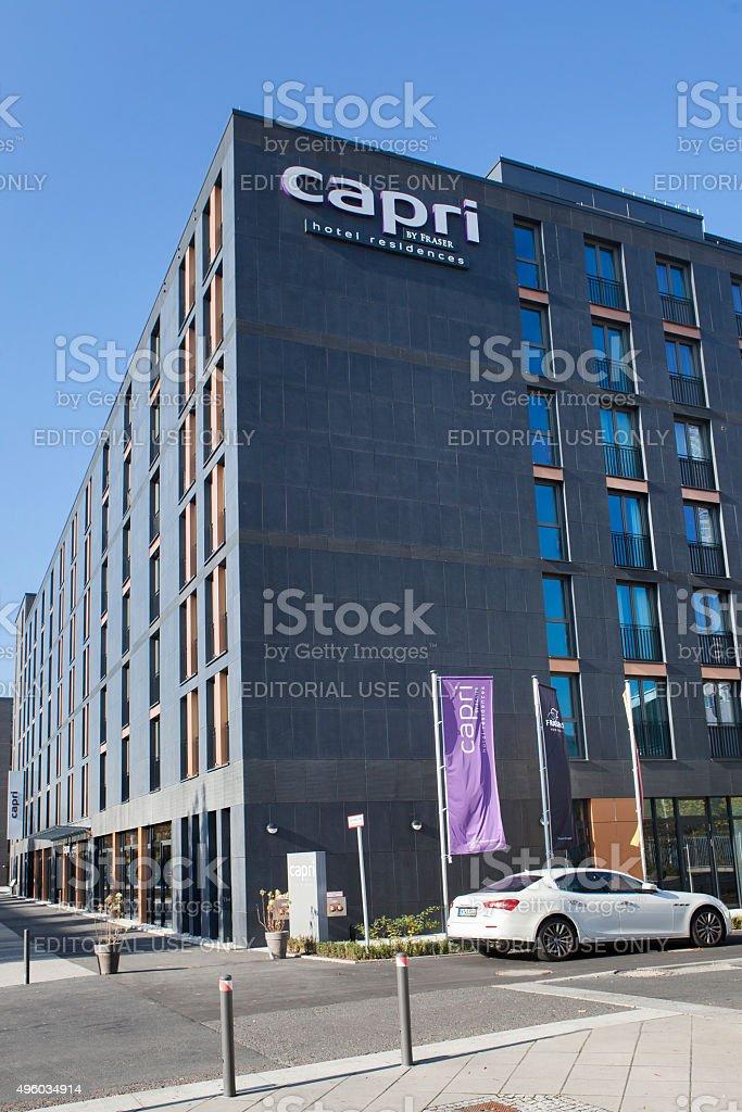 Hotel Capri, Frankfurt - Europaviertel stock photo