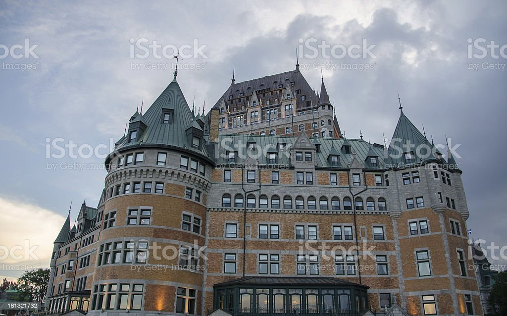 Hotel Chateau Frontenac, Quebec City, Canada royalty-free stock photo