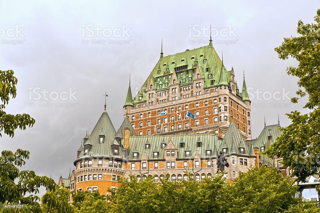 Hotel Chateau Frontenac -Quebec City landmark stock photo