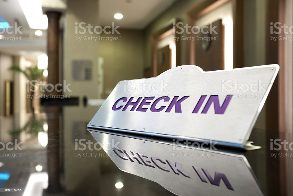 Hotel Check In royalty-free stock photo