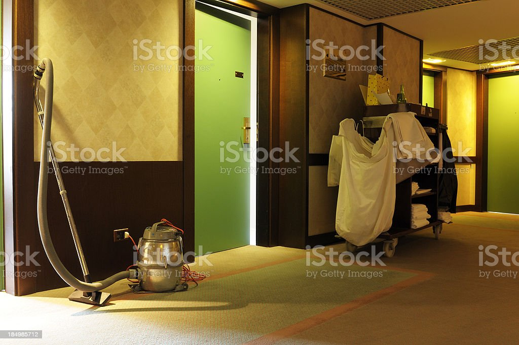Hotel Cleaning Equipment royalty-free stock photo