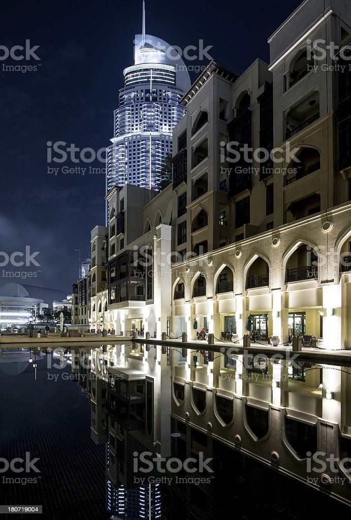 Hotel complex at night royalty-free stock photo