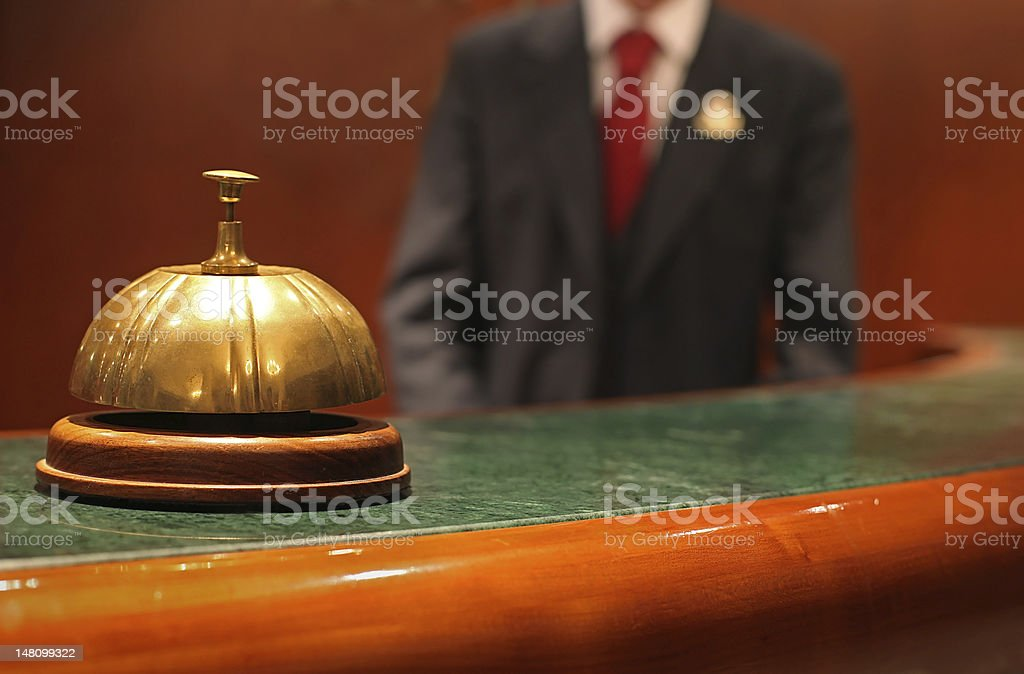 Hotel Concierge stock photo
