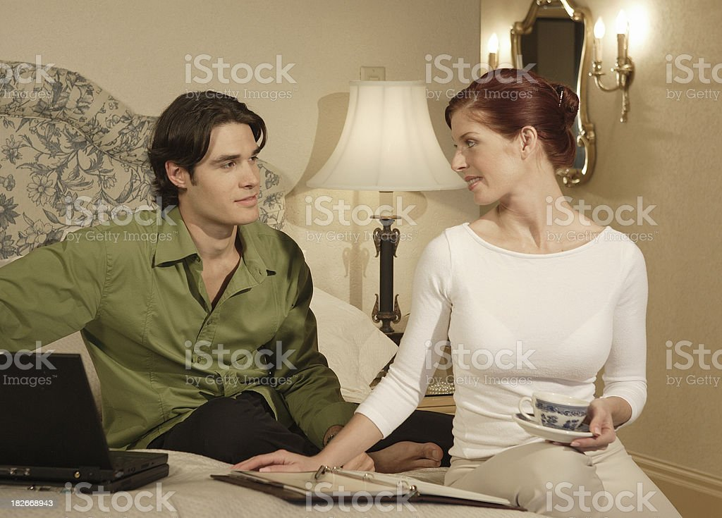 Hotel conversation royalty-free stock photo