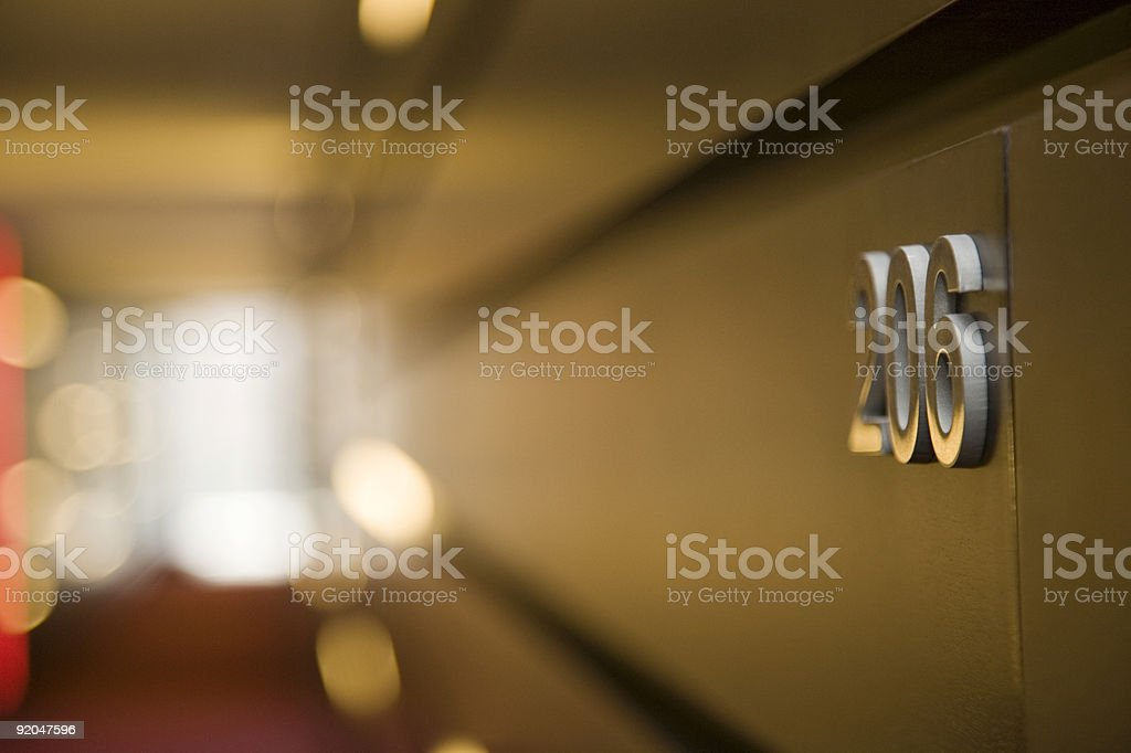 Hotel corridor royalty-free stock photo