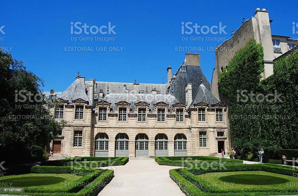 Hotel de Sully mansion in Paris stock photo