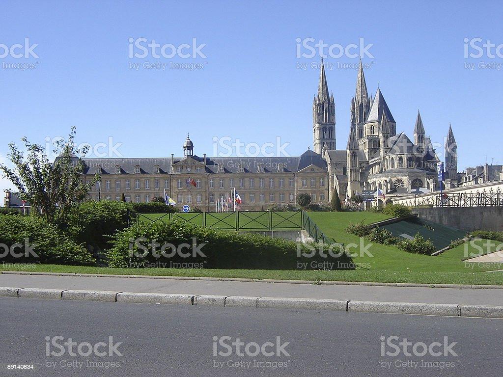 hotel de ville - Abbey aux Hommes (Caen) stock photo