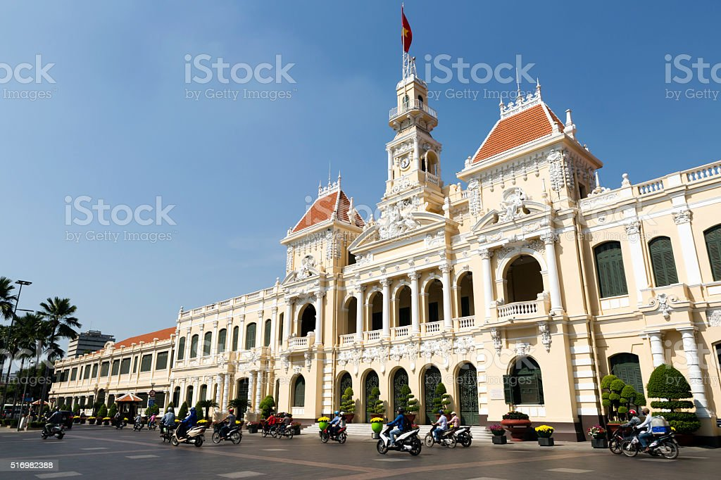 Hotel de Ville de Saigon Ho Chi Minh City Vietnam stock photo