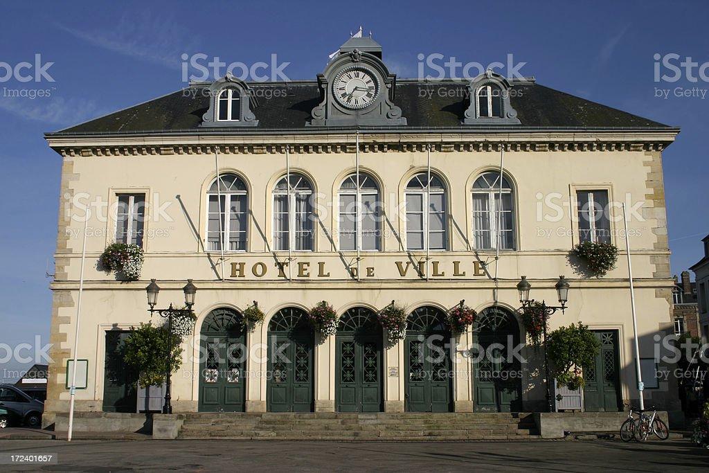 Hotel de Ville Honfleur royalty-free stock photo