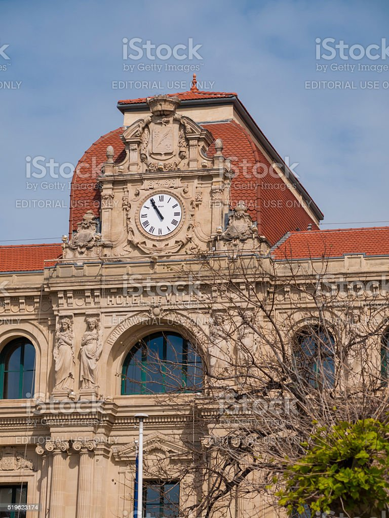Hotel de Ville in Cannes, France stock photo