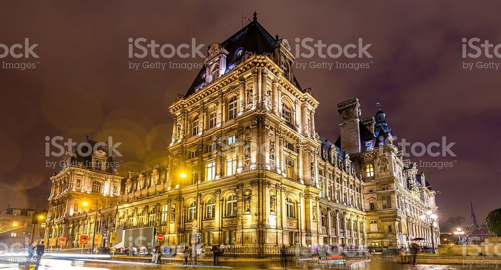 Hotel de Ville (City Hall) of Paris - France stock photo