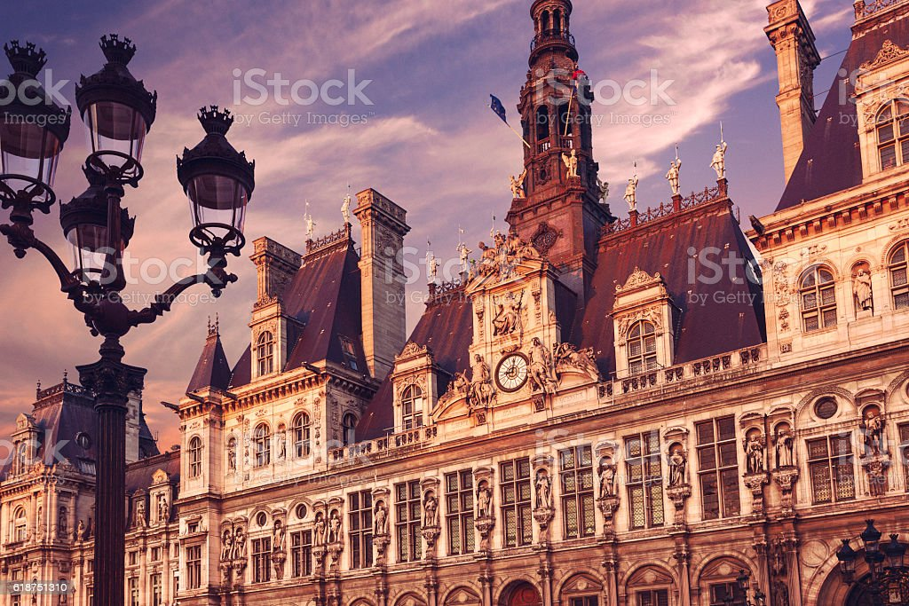 Hotel de Ville, Paris stock photo