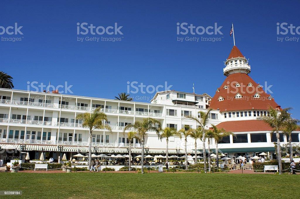 Hotel Del Coronado on a sunny day royalty-free stock photo