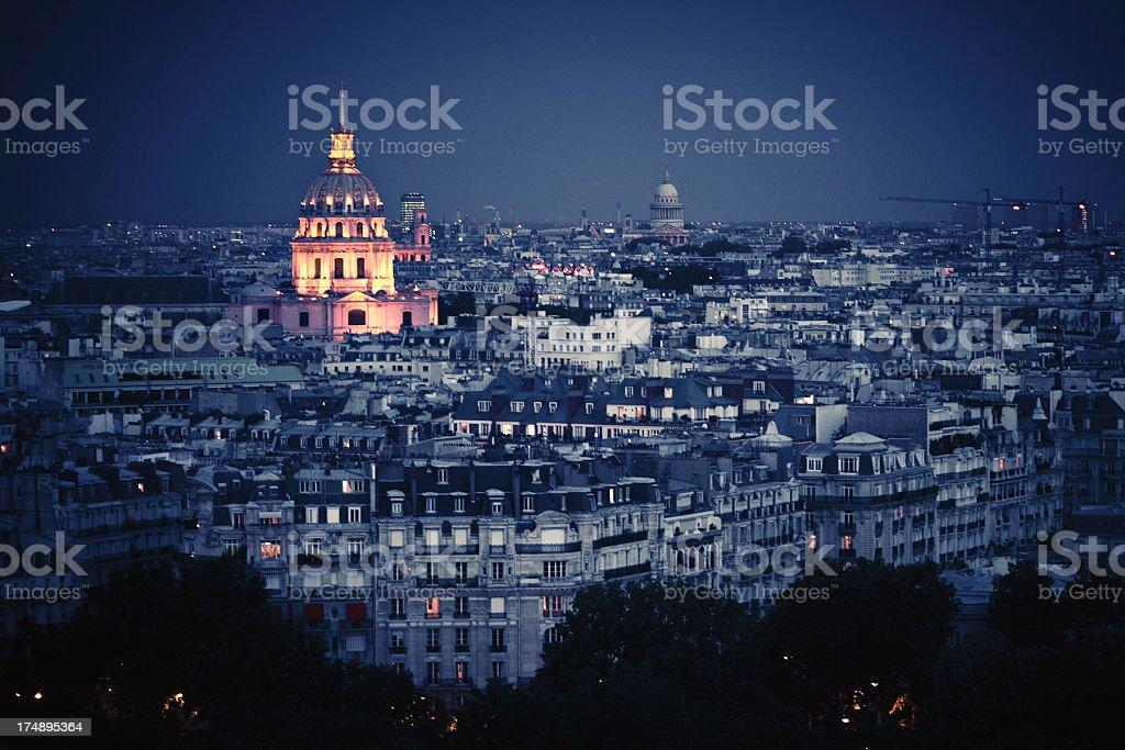 Hotel des Invalides at night royalty-free stock photo