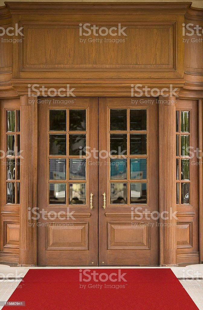 Hotel Door stock photo