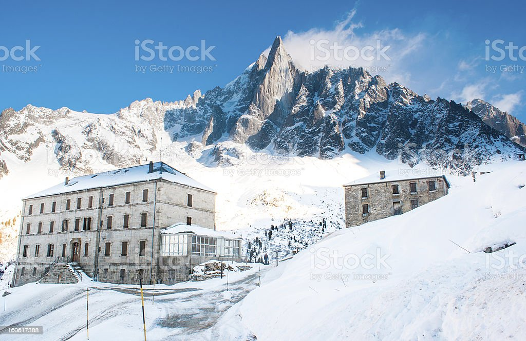 Hotel du Montenvers, Chamonix, France royalty-free stock photo