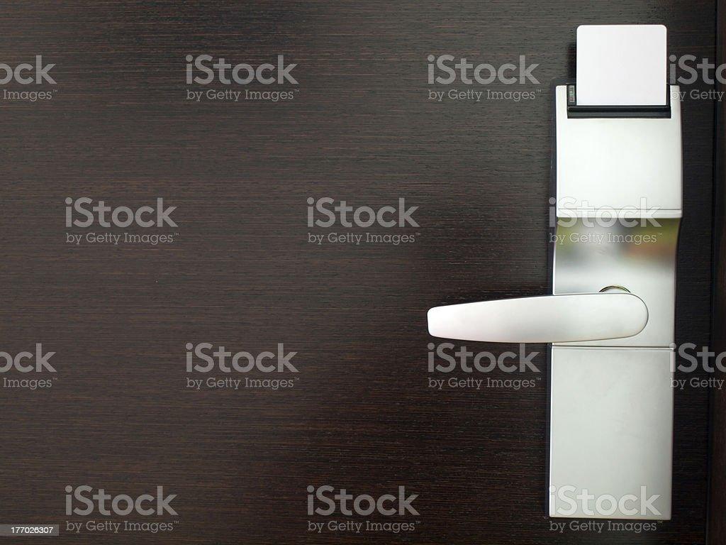 Hotel electronic lock stock photo
