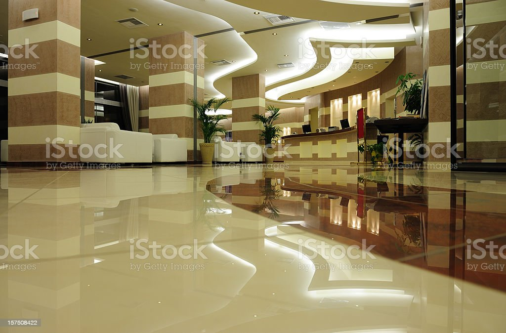 Hotel entrance in marble and stone royalty-free stock photo