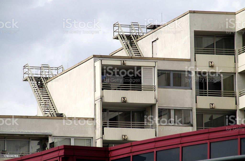 Hotel facade in Hameln stock photo