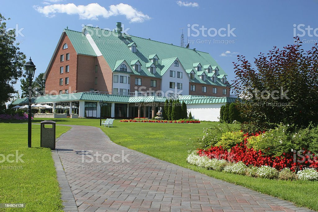 Hotel Garden royalty-free stock photo
