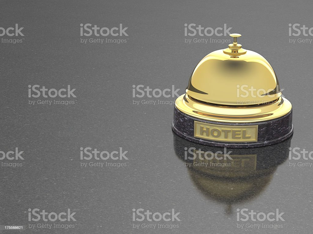 hotel gold service bell on marble royalty-free stock photo