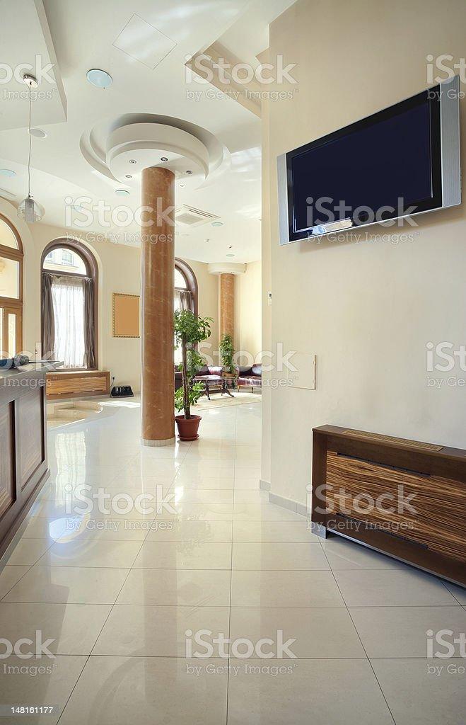 Hotel halls stock photo