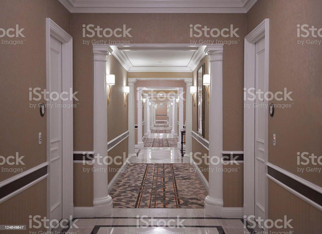 Hotel Hallway royalty-free stock photo