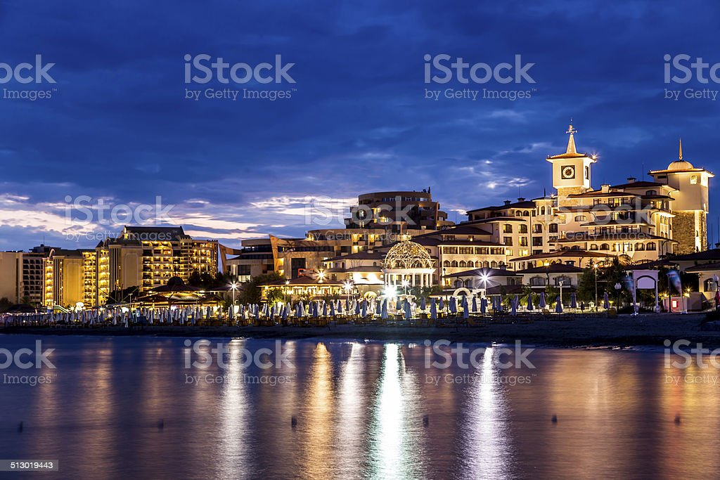 Hotel Helena Resort in Sunny beach stock photo