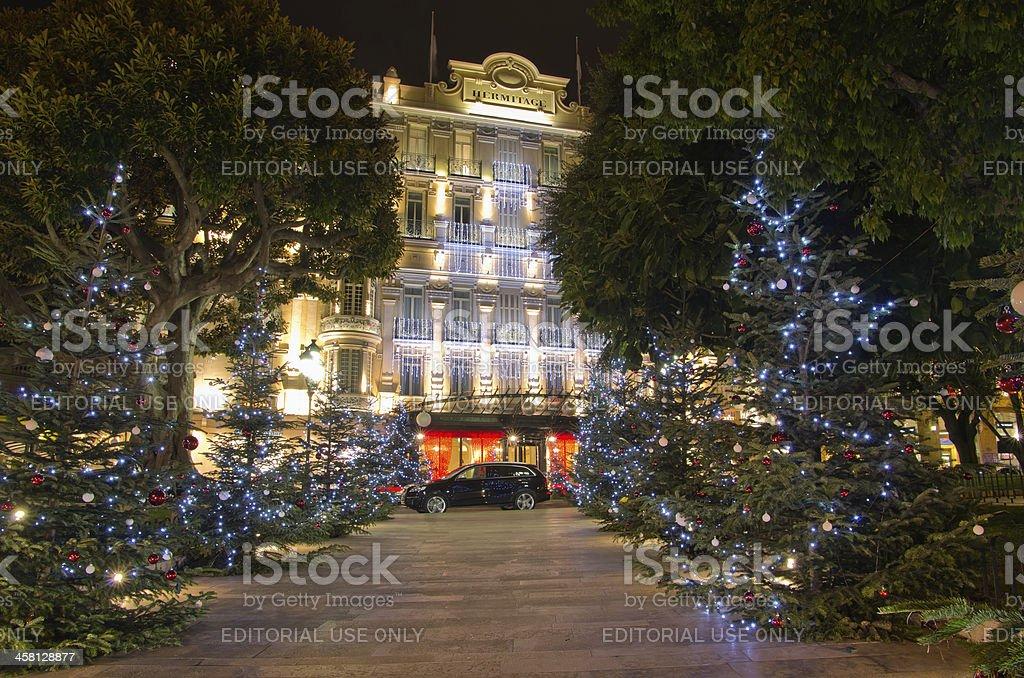 Hotel Hermitage, Monaco, France stock photo