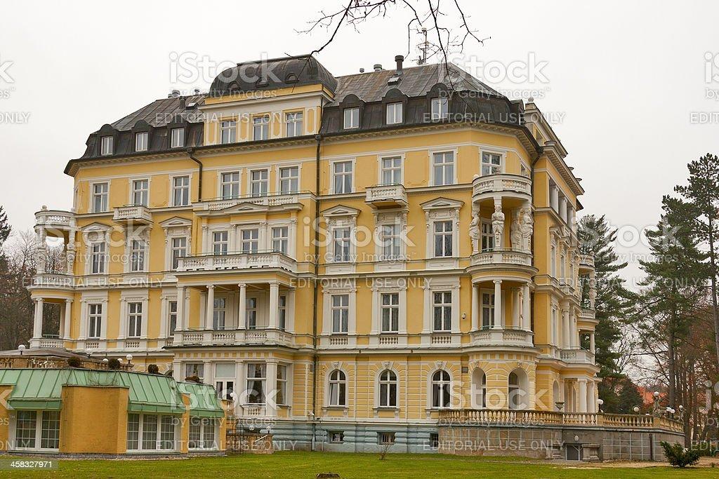 Hotel Imperial in Frantiskovy Lazne royalty-free stock photo