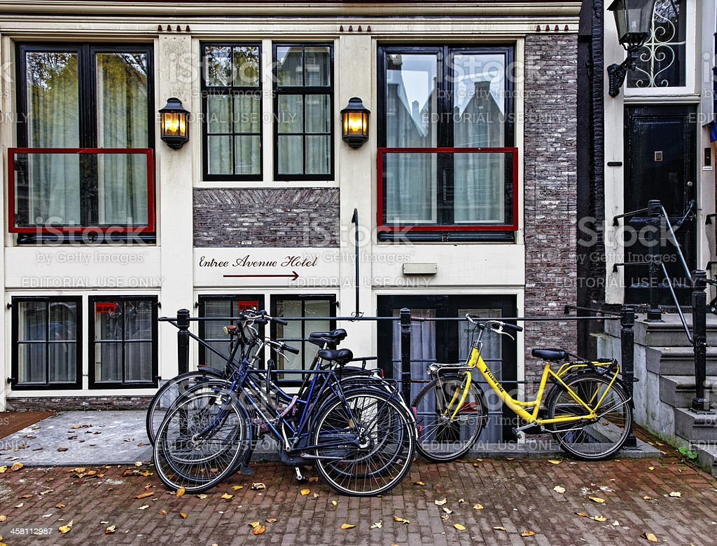 Hotel in Amsterdam royalty-free stock photo