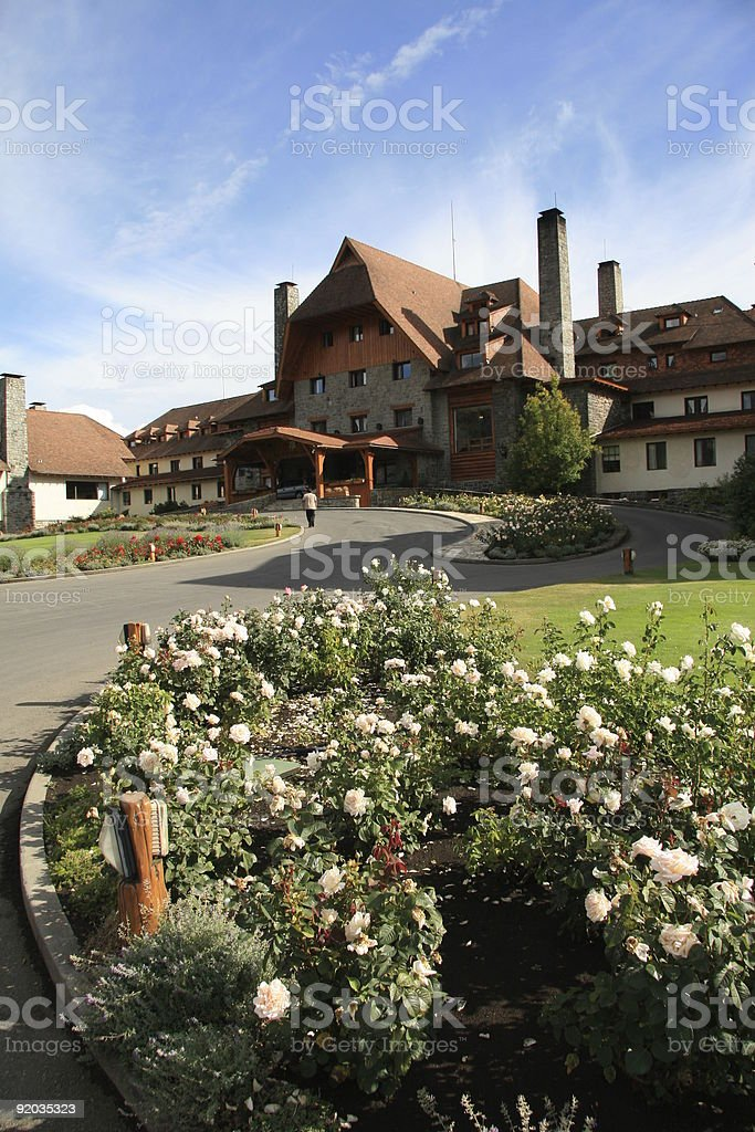 Hotel in Bariloche royalty-free stock photo