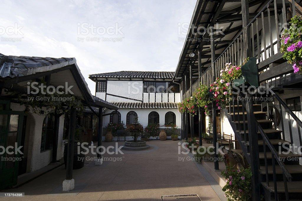 Hotel in Ecuador stock photo