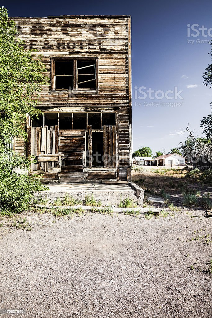 Hotel in Ghost Town, USA stock photo
