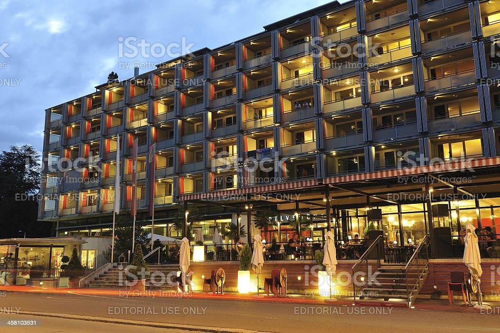 Hotel in Interlaken royalty-free stock photo