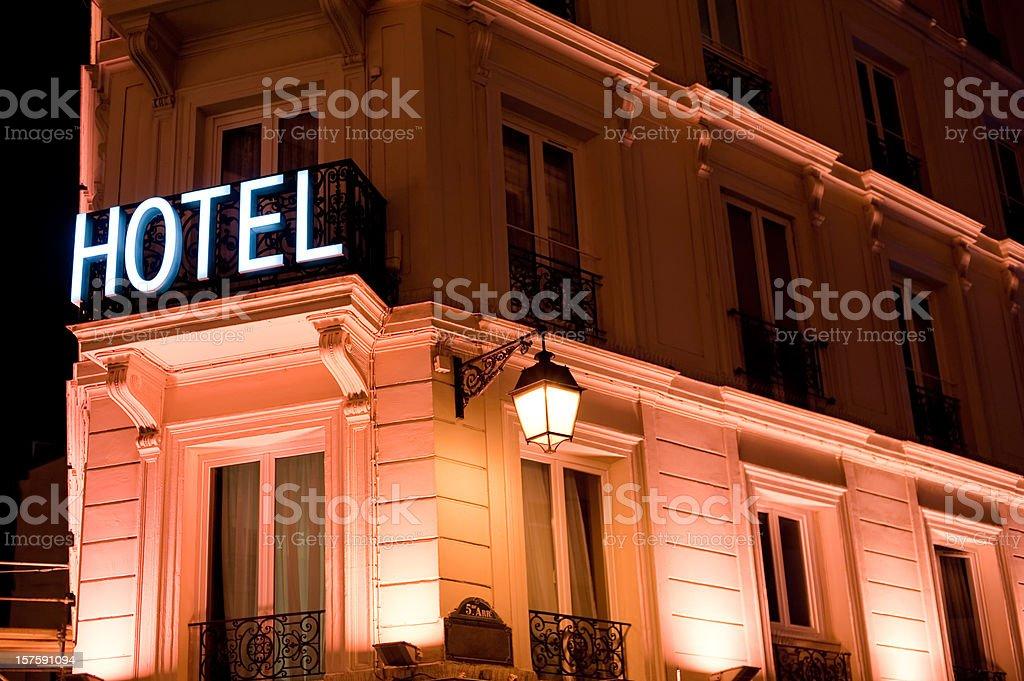 Hotel in Paris, France stock photo
