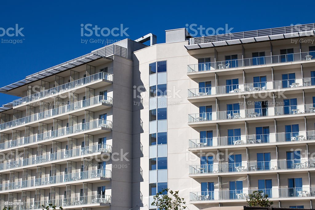 Hotel in Sochi, Russia stock photo