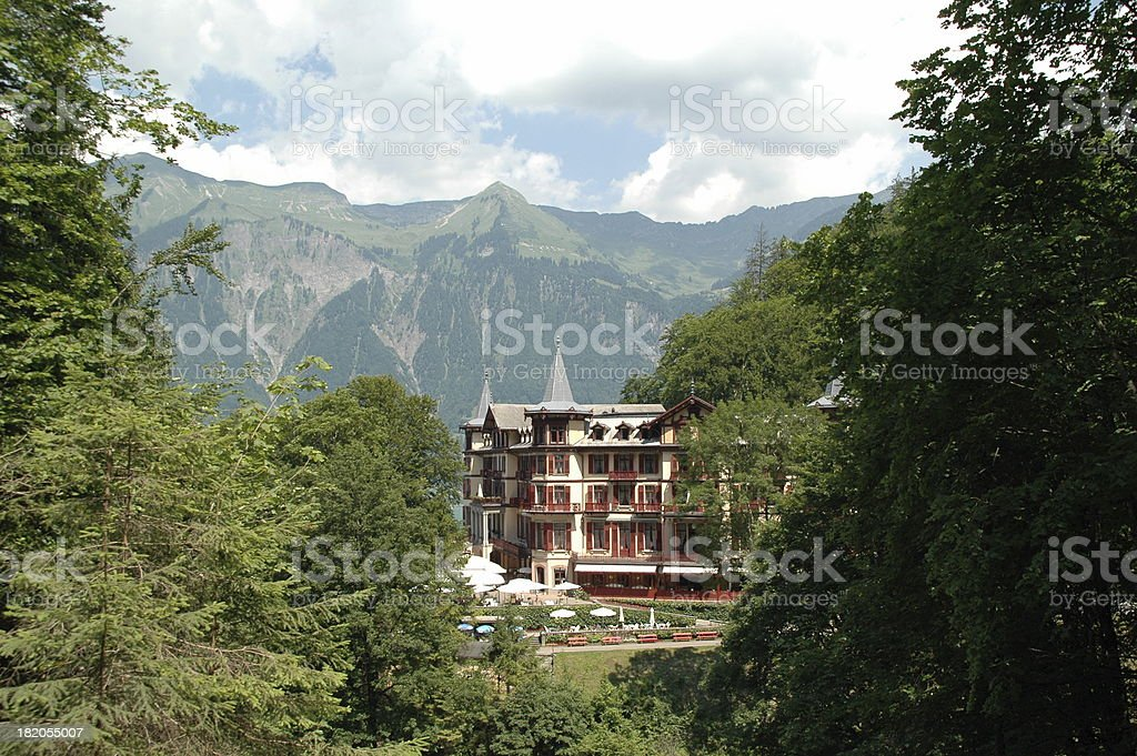 Hotel in Swiss mountains #2 stock photo