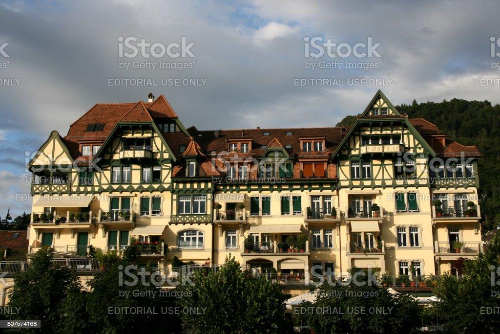 Hotel in Thun stock photo