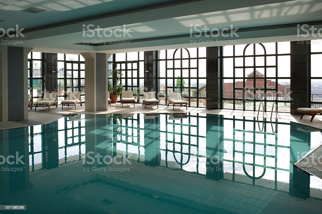 Hotel indoor Pool royalty-free stock photo