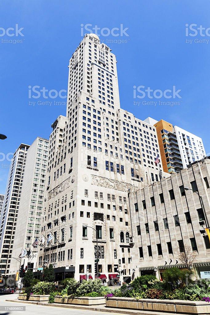 Hotel Intercontinental Chicago on North Michigan Avenue stock photo