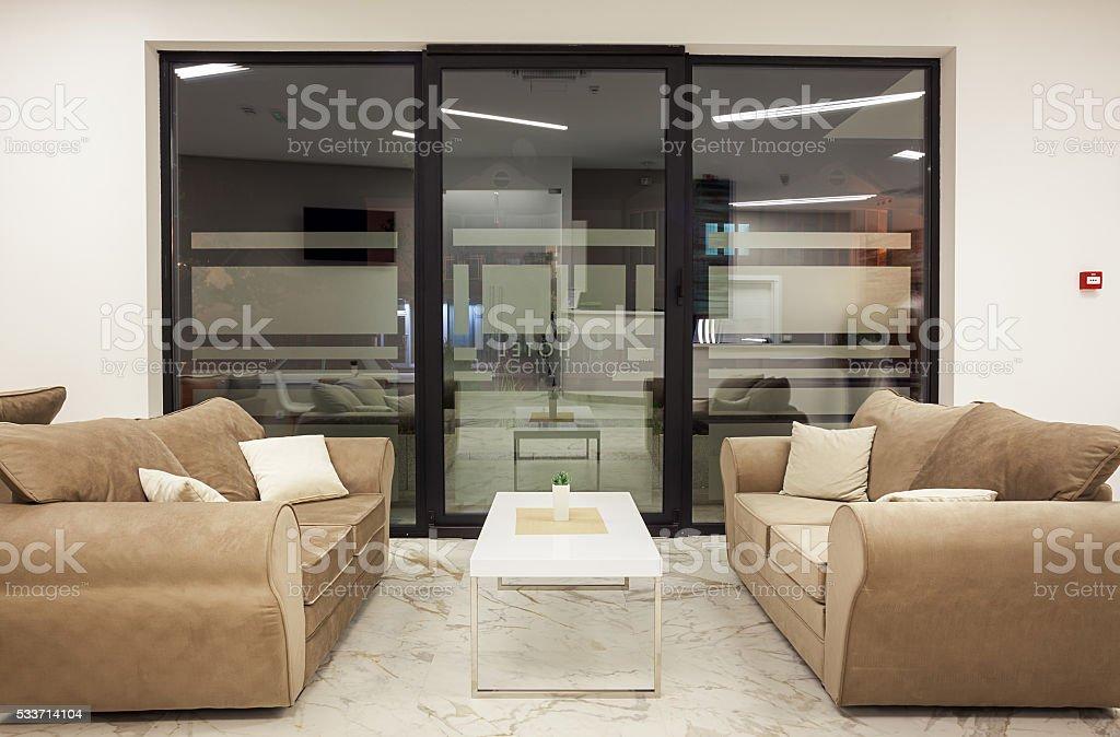 Hotel Interior Modern Design stock photo