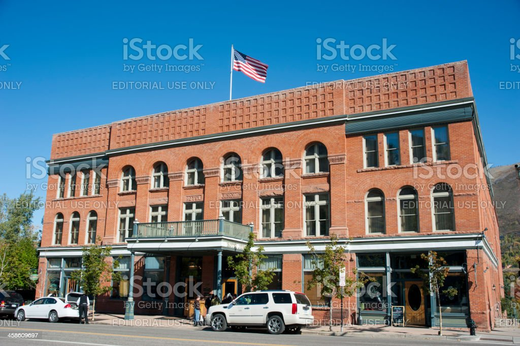 Hotel Jerome in Aspen, Colorado royalty-free stock photo