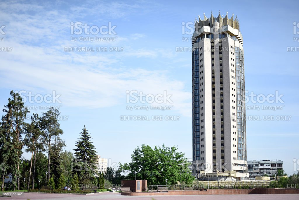Hotel Kazakhstan stock photo