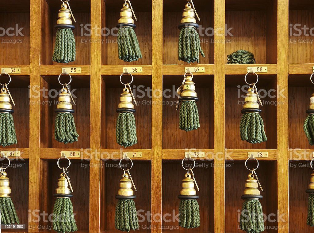 Hotel Keys stock photo