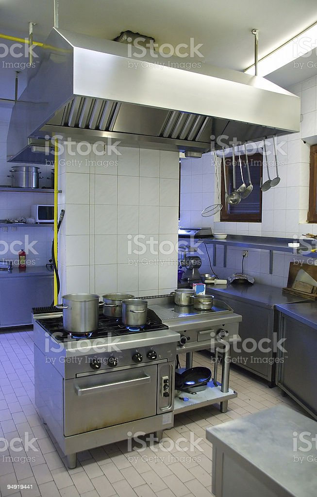 Hotel kitchen royalty-free stock photo